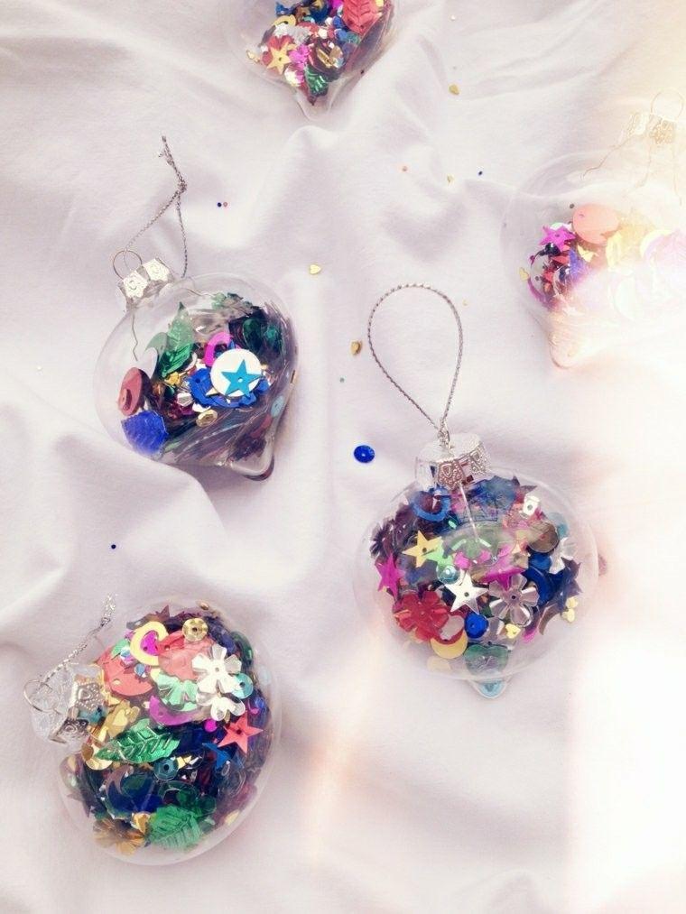 adornos cristal llenos confeti ideas
