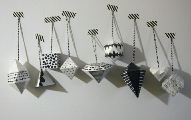 adornos formas geometricas blancas ideas