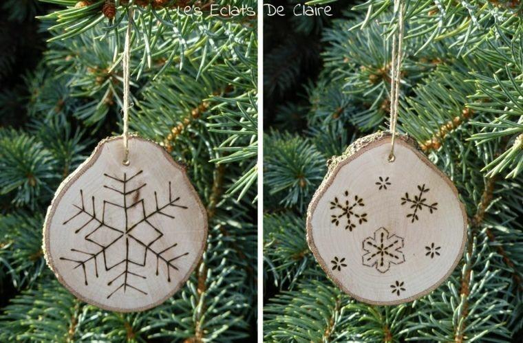 adronos navidad troncos madera ideas
