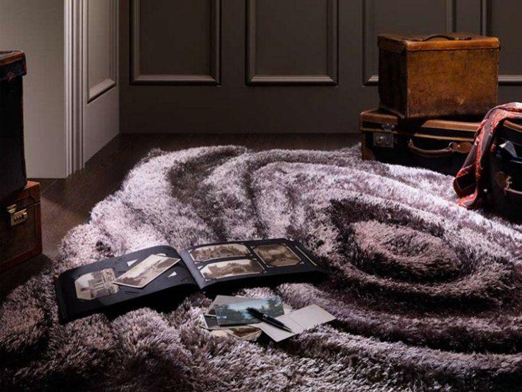 alfombra pelo color violeta