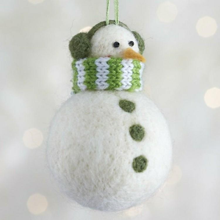 navidad manualidades faciles nieve verde muñecos