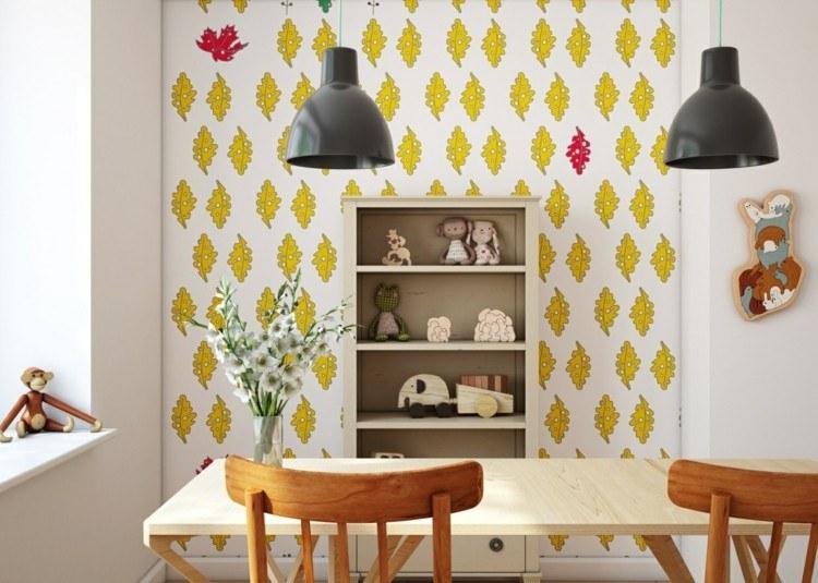 amarillo hojas decoracion variantes lamparas
