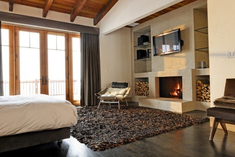 ambientes sumas estilo cortinas madera