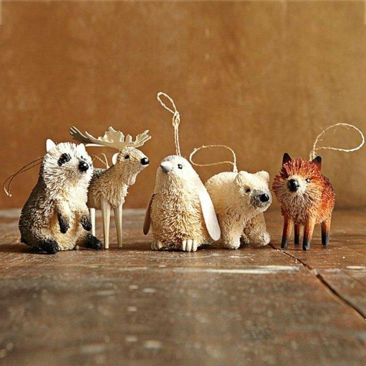 animales colgantes diferentes amarillo miniatura