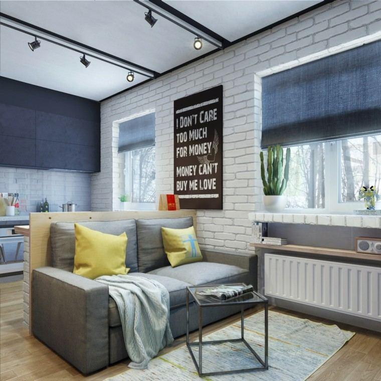 apartamentos diseño decoracion amarillo ventanas