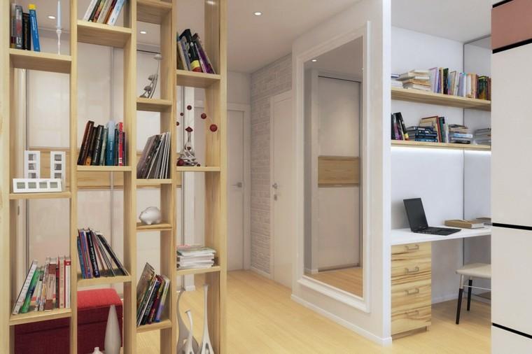 apartamentos diseño decoracion estantes libros