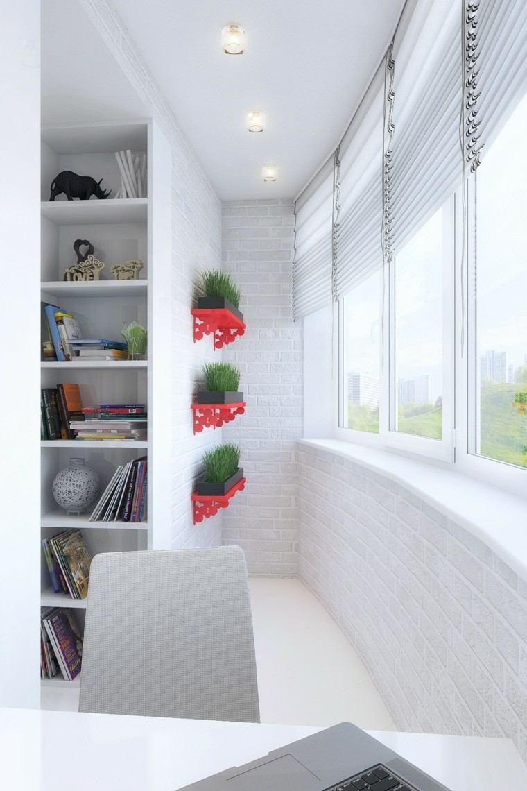 apartamentos diseño decoracion librero flores