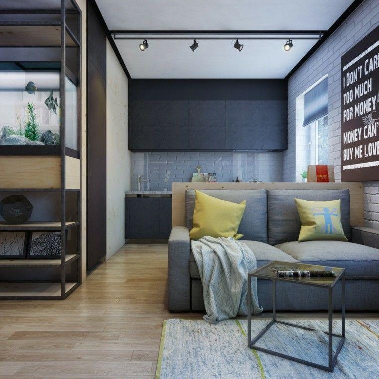apartamentos diseño decoracion metales estantes