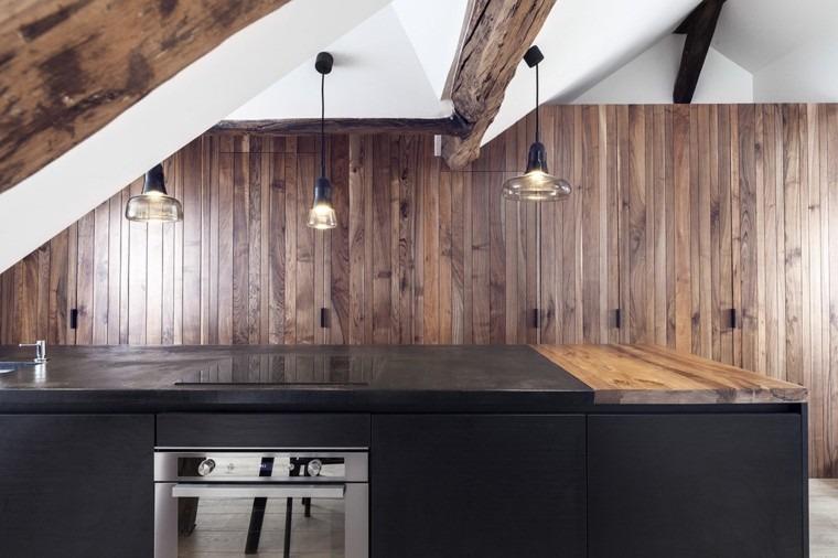 apartamentos diseño pequeño colgantes cocina
