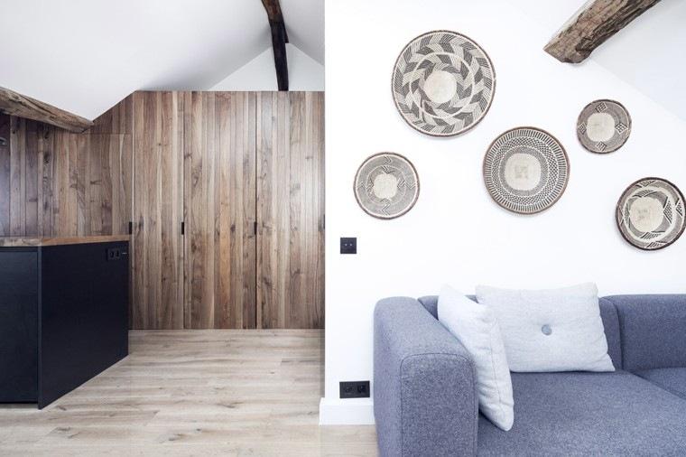 apartamentos diseño pequeño mesas paredes
