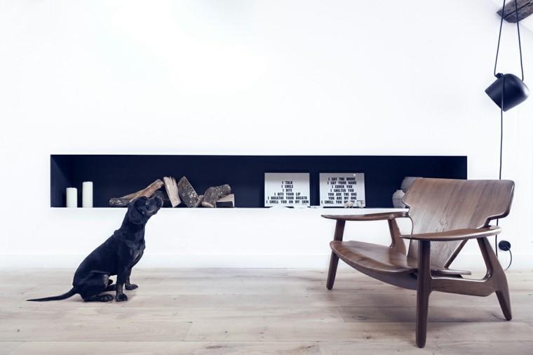 apartamentos diseño pequeño oscuro perro
