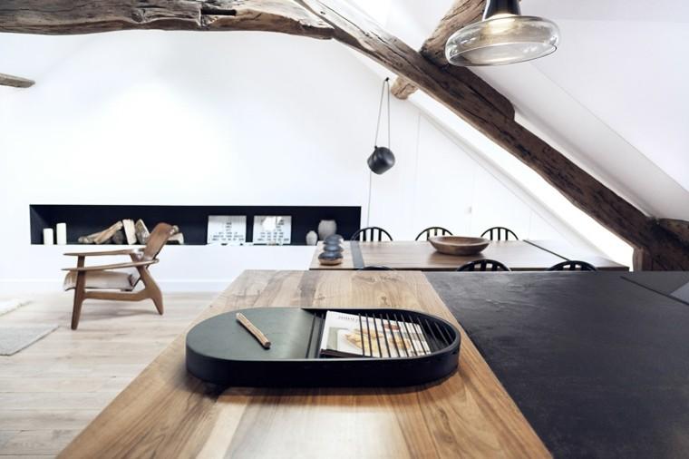 apartamentos diseño pequeño salon madera