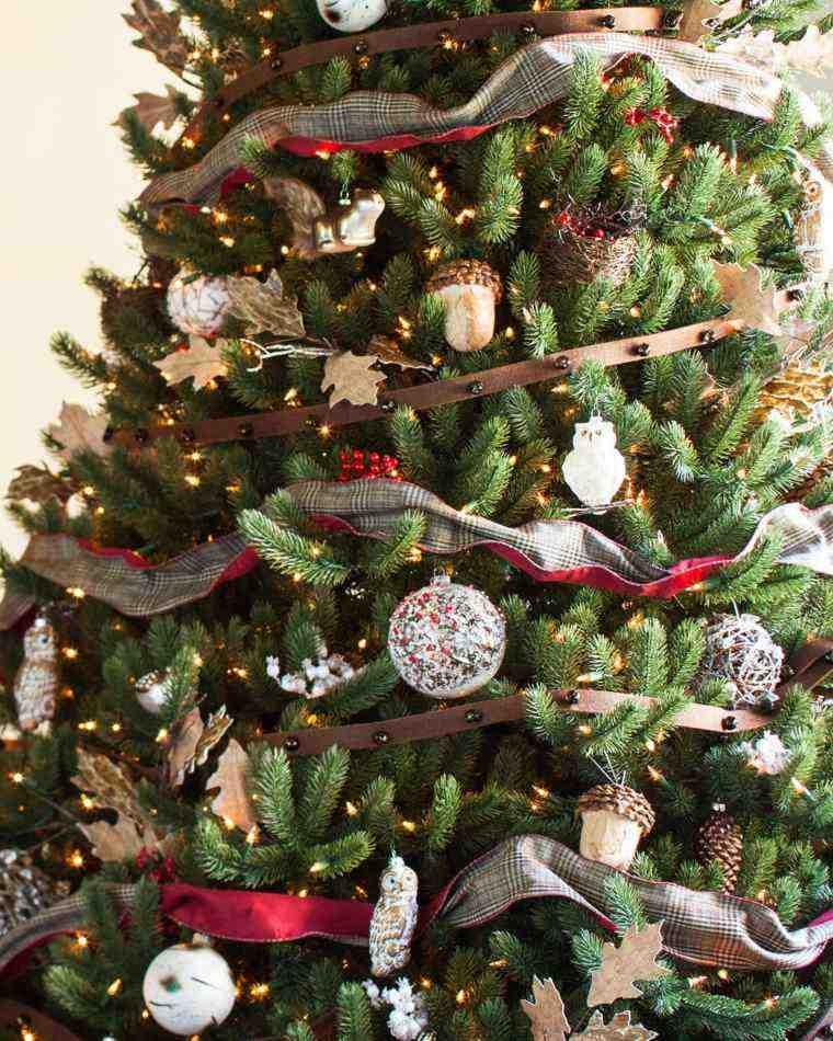 Arbol de navidad decoracion preciosa con lazos for Adornos arbol navidad online