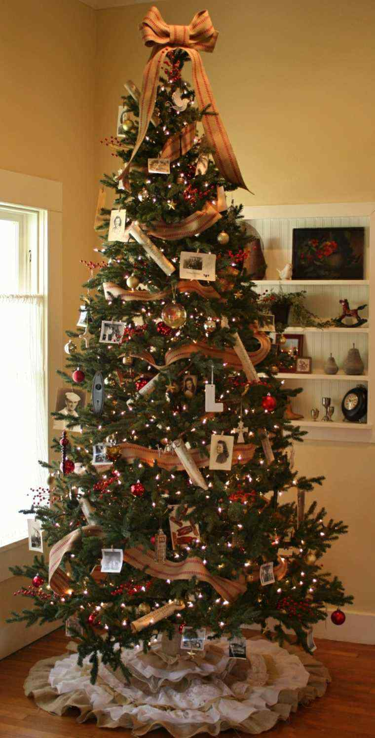 Arbol de navidad decoracion preciosa con lazos for Como hacer un arbol de navidad original