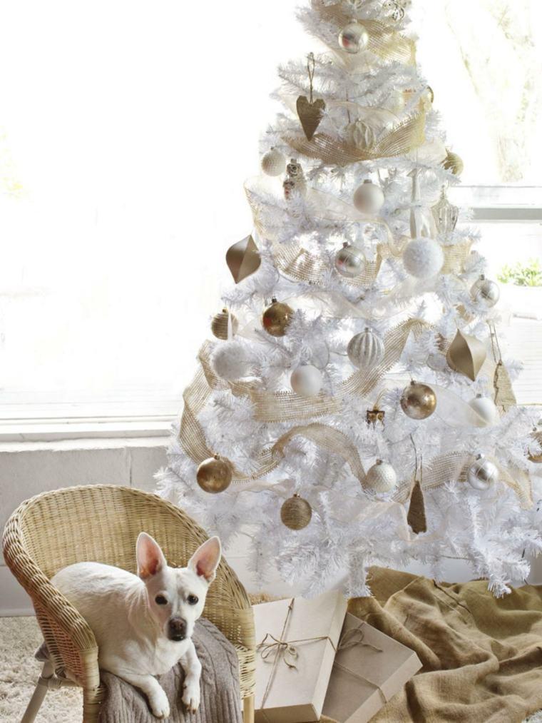 arbol de navidad decoracion lazo blanco puro ideas
