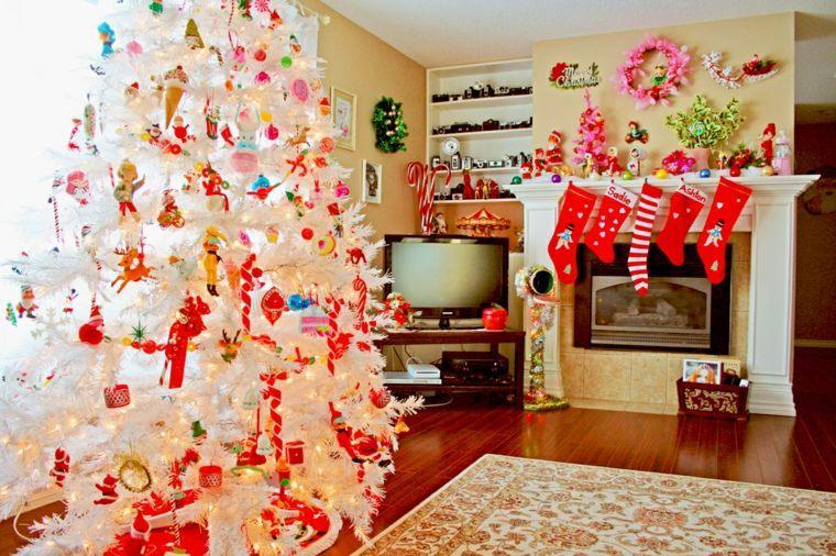 arbol navidad decoracion lazo blanco ideas