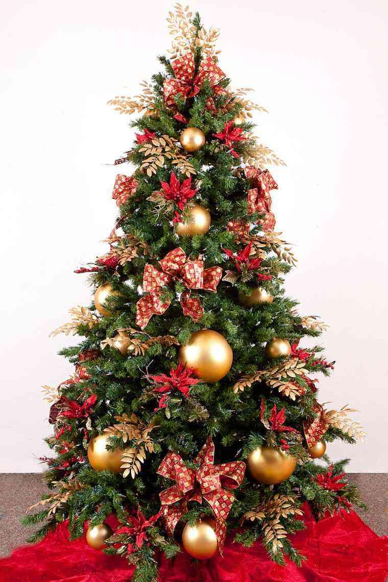 Arbol de navidad decoracion preciosa con lazos for Cuando se pone el arbol de navidad