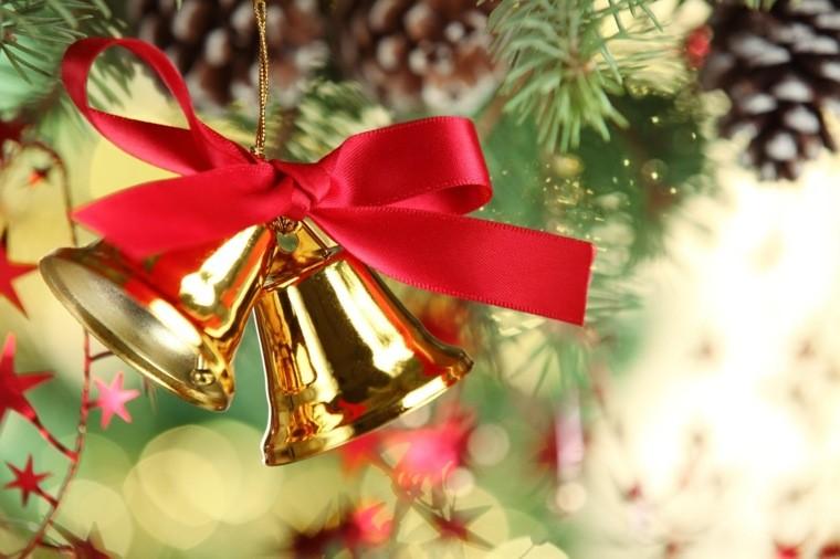 arbol navidad decoracion lazo campana ideas
