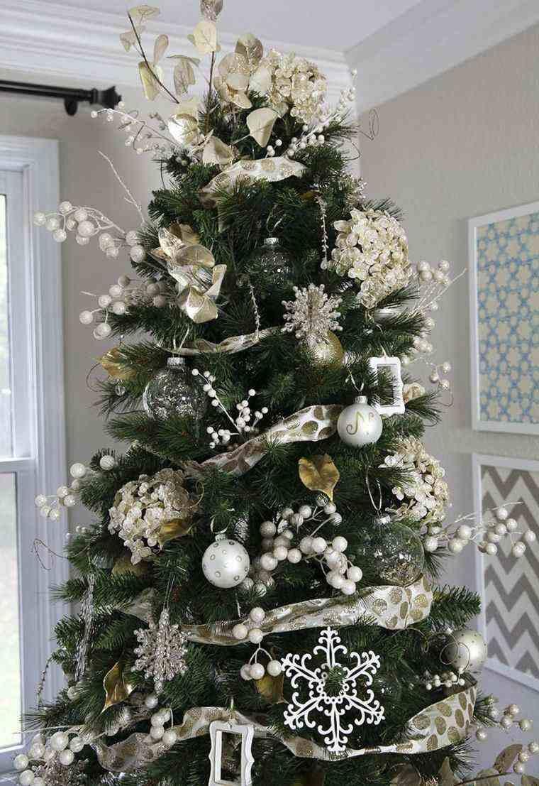Arbol de navidad decoracion preciosa con lazos - Ideas para decorar estrellas de navidad ...