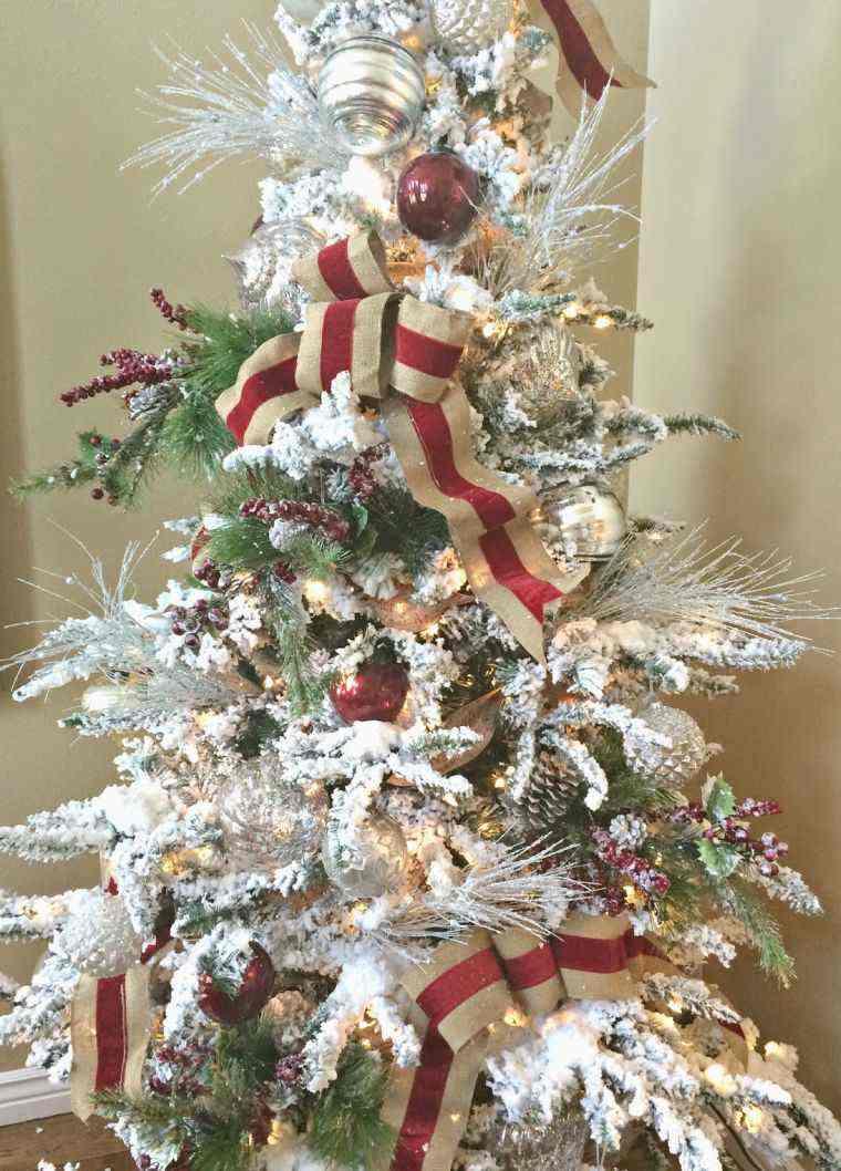 arbol de navidad decoracion lazo guirnaldas ideas