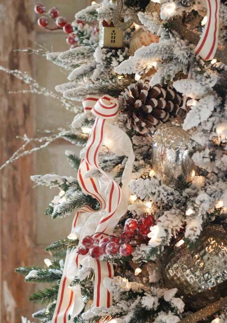 arbol de navidad decoracion lazo ornamentos ideas