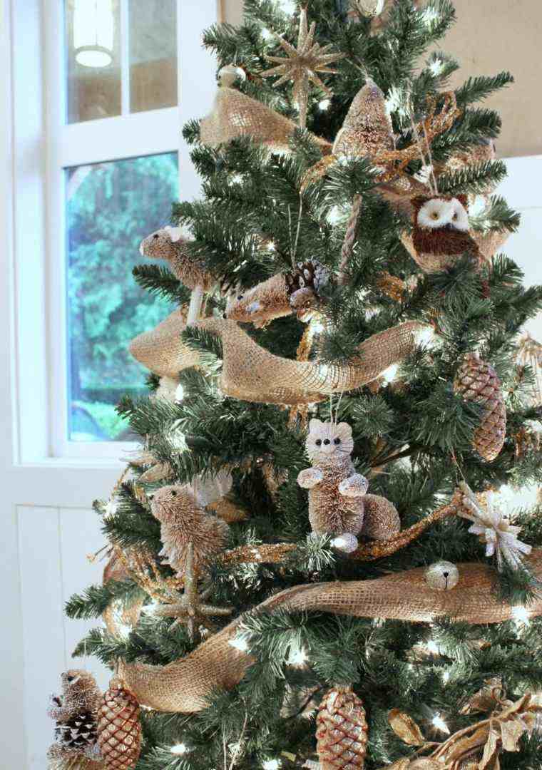 Arbol de navidad decoracion preciosa con lazos - Arbol de navidad de pared ...
