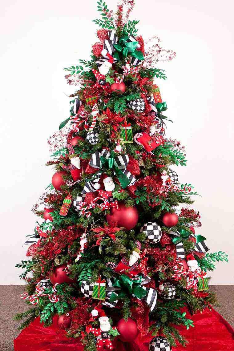 arbol de navidad decoracion lazo preciosa ideas