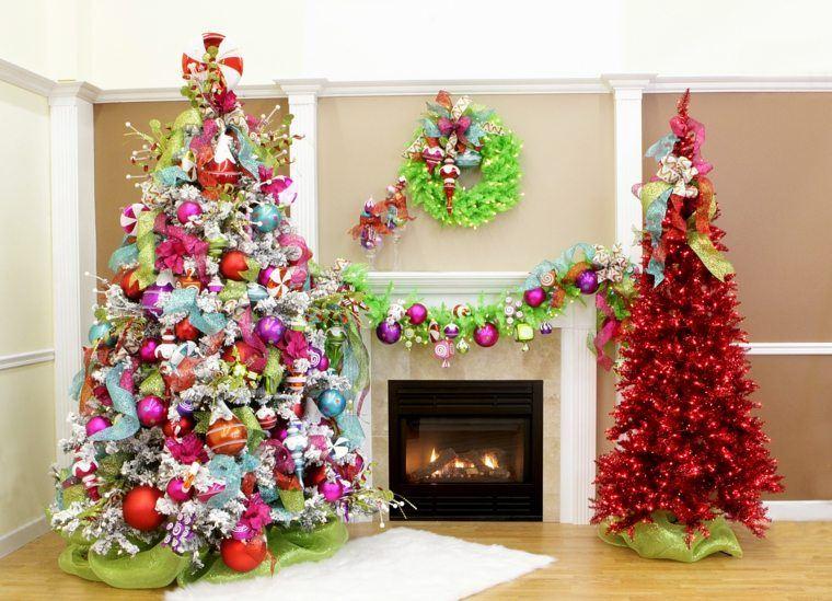 arbol navidad decoracion lazo bajo arboles ideas