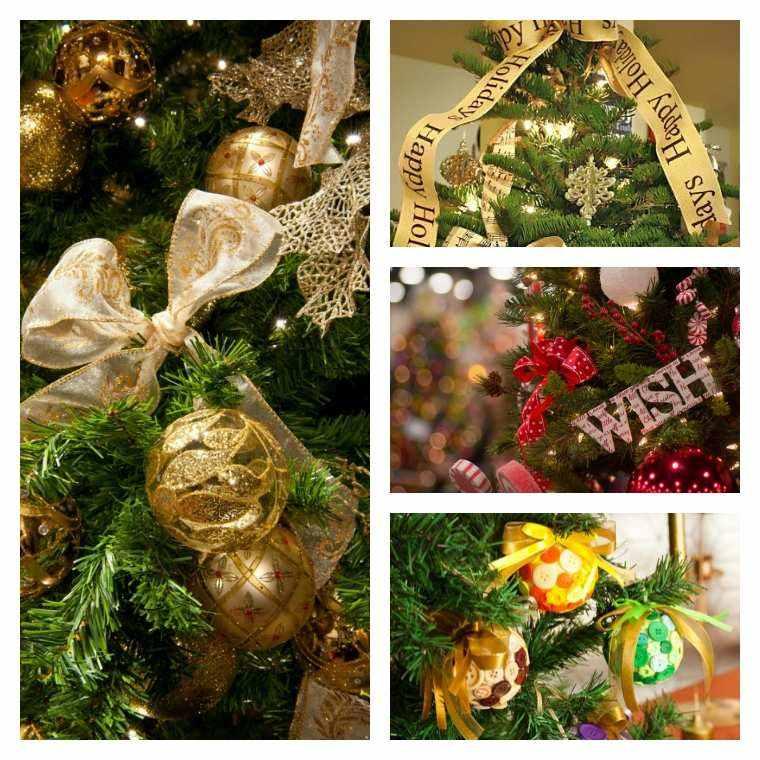 arbol navidad decoracion lazo bolas bonitas ideas
