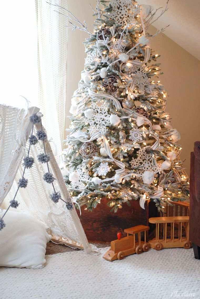 arbol navidad decoracion lazo grande ideas