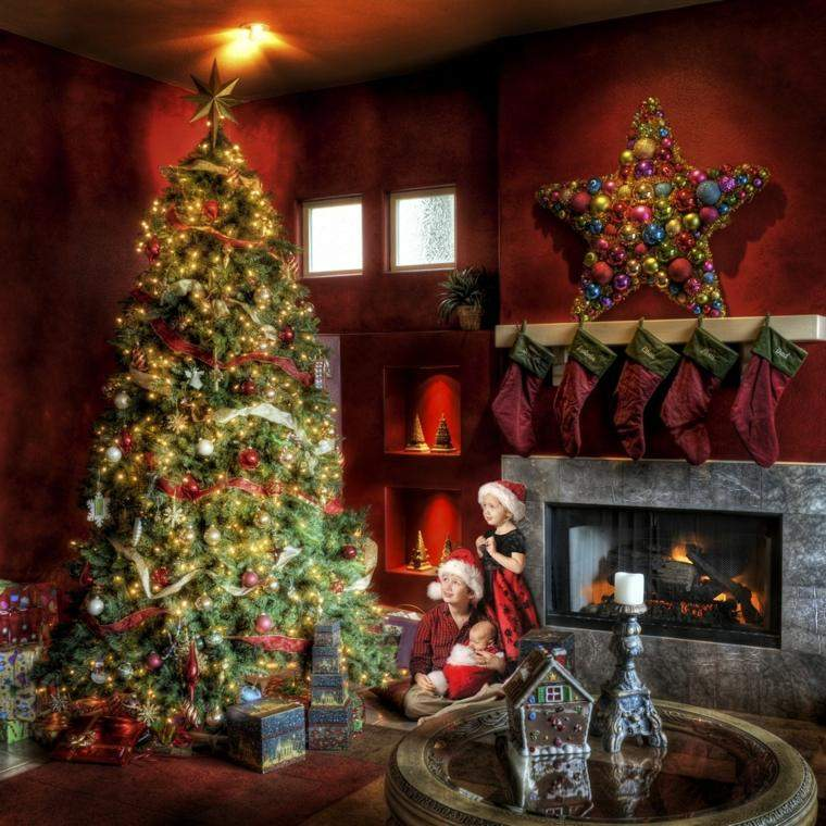 arbol navidad decoracion lazo luminosa ideas