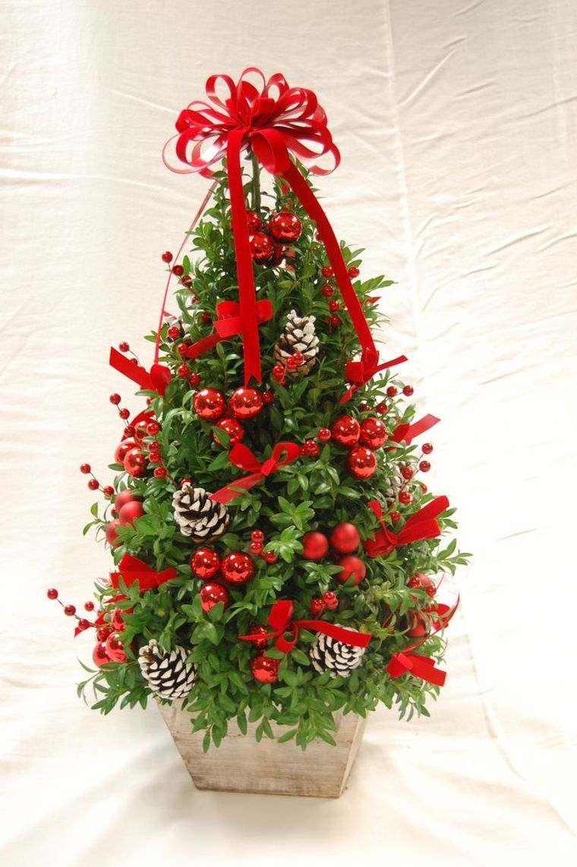arbol navidad decoracion lazo pequeno rojo ideas