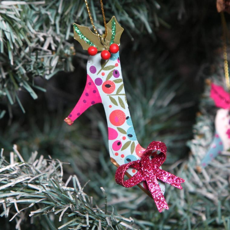 arbol navidad decoracion lazo zapato tacon ideas