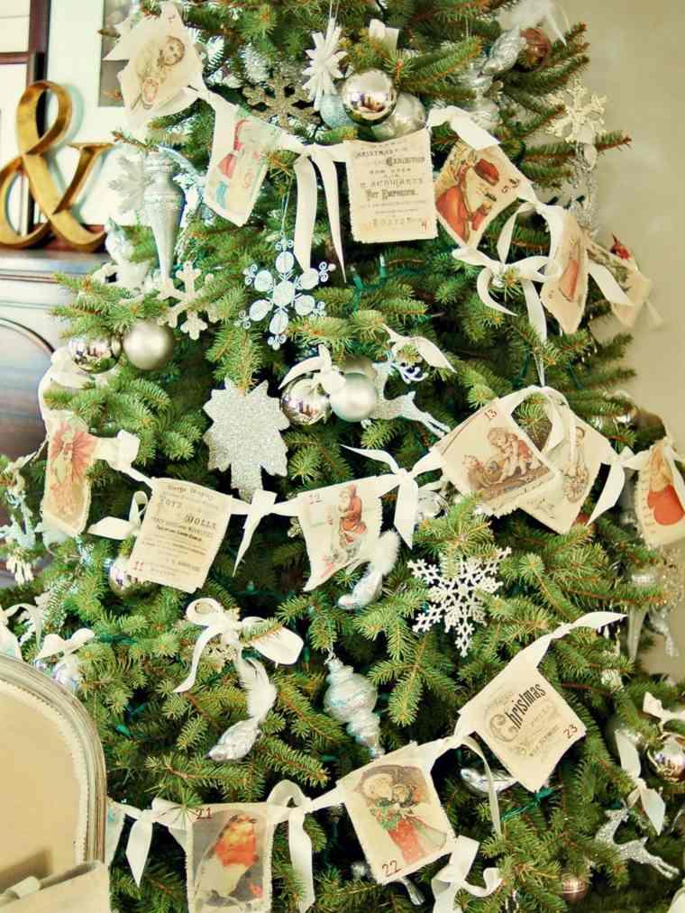 arbol navidad adornos estilo retro