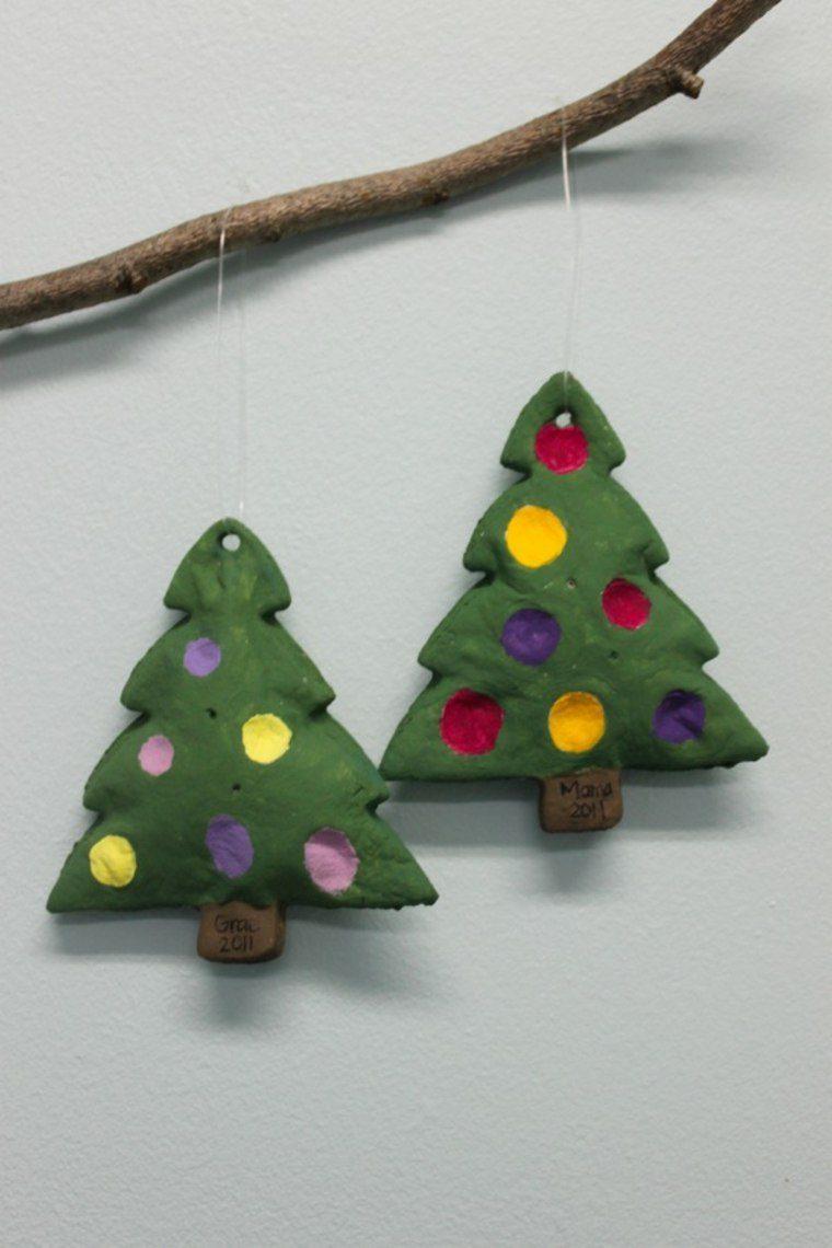 arboles navidad pasta sal decoracion navidena ideas