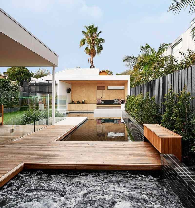 area piscina casa jardin caminos ideas