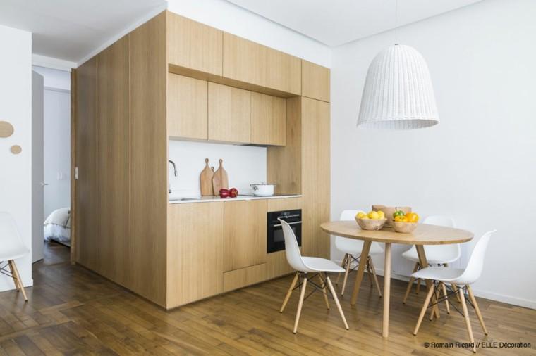 armario cocina pequeña diseño luminoso