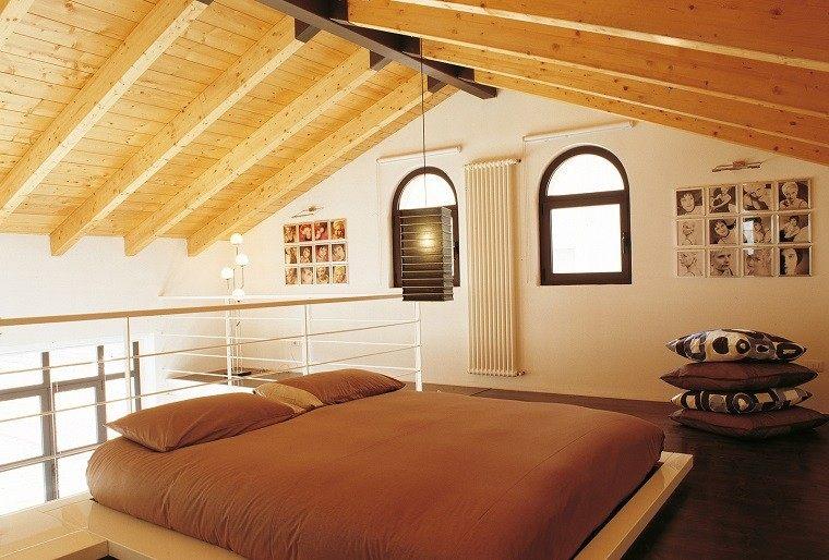 casa techo abovedado moderno cama grande ideas