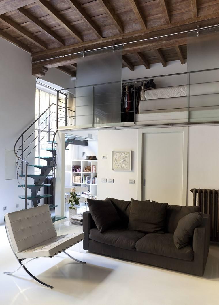 casa techo abovedado moderno sillon blanco ideas
