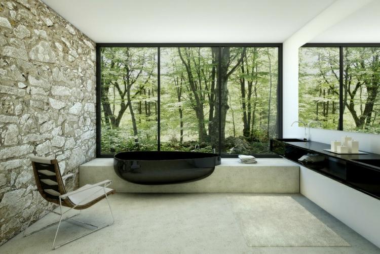 bañeras negras exteriores casas sillas
