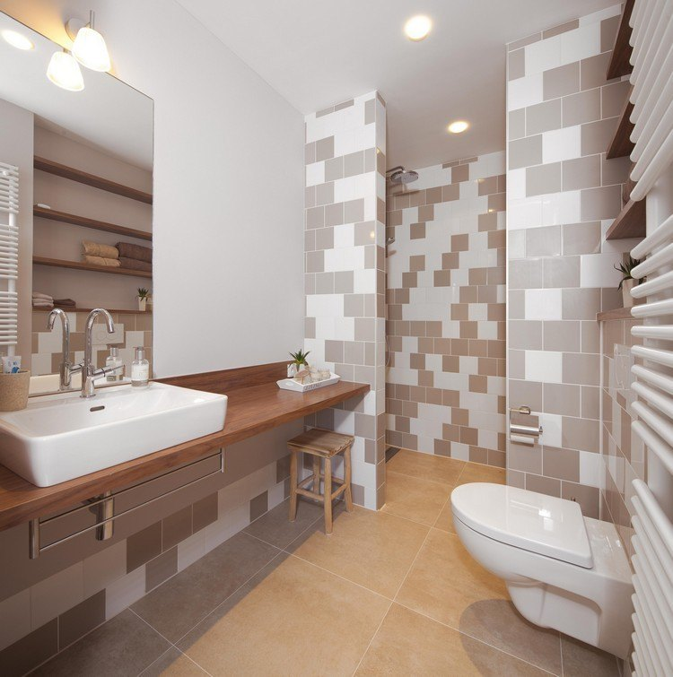baño moderno azulejos colores