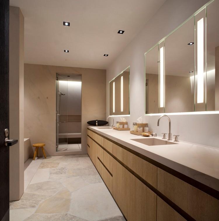 baño moderno incrustaciones color beige