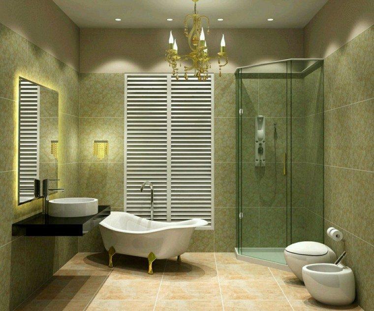 baño pequeño color verde