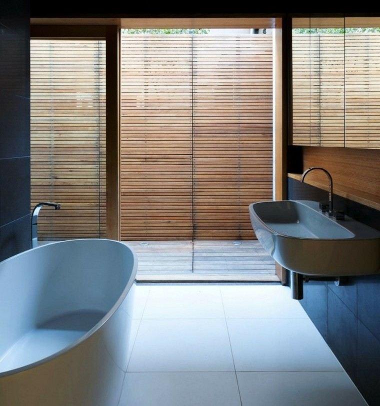 diseño baño pequeño estilo minimalista