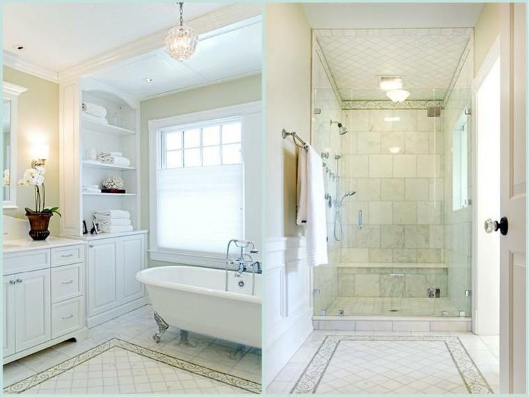 baño blanco estilo lujoso retro