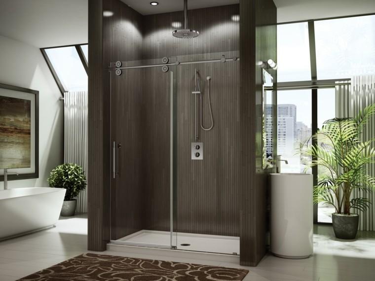 baños modernos con ducha bañaderas jardineras