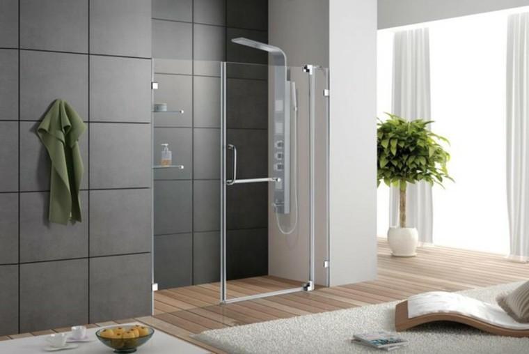 Baños Modernos Verdes:Baños modernos con ducha, ideas de diseño fabulosas