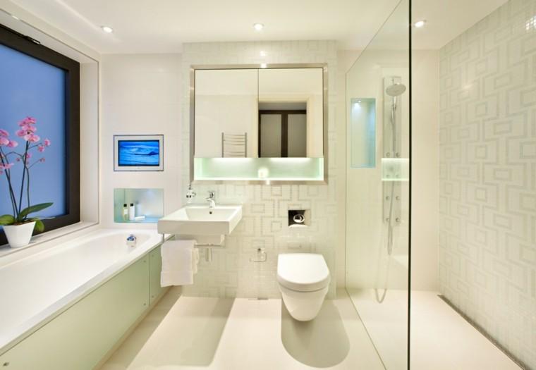 baños pequeños todo blanco