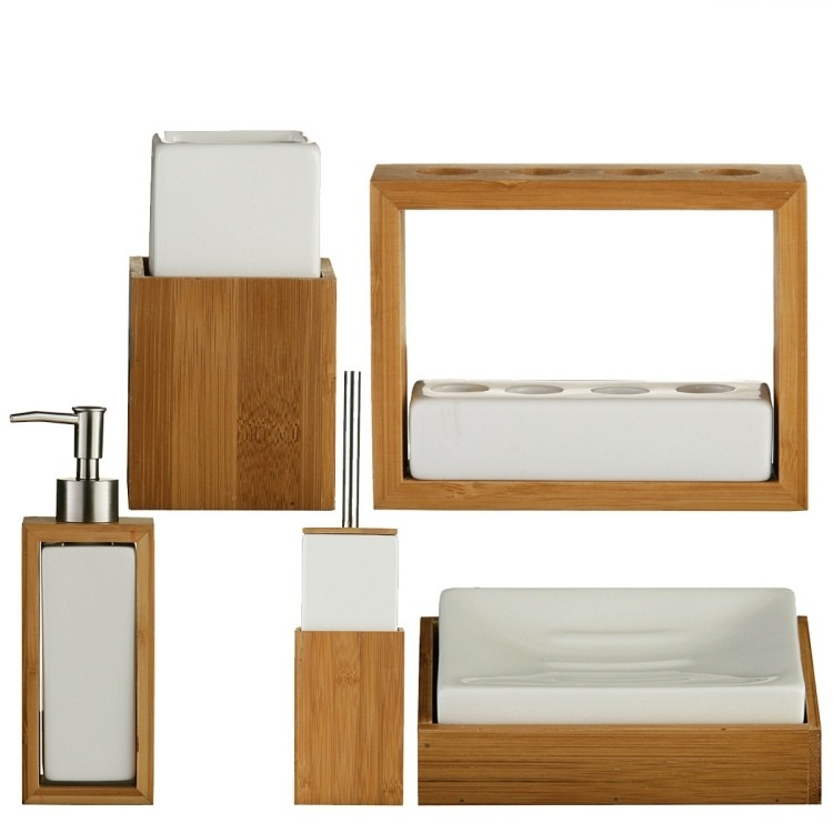bambu muebles ideas accesorios baño blanco
