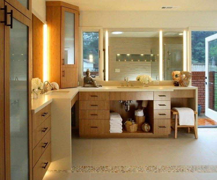 bambu muebles ideas baño cristales calido
